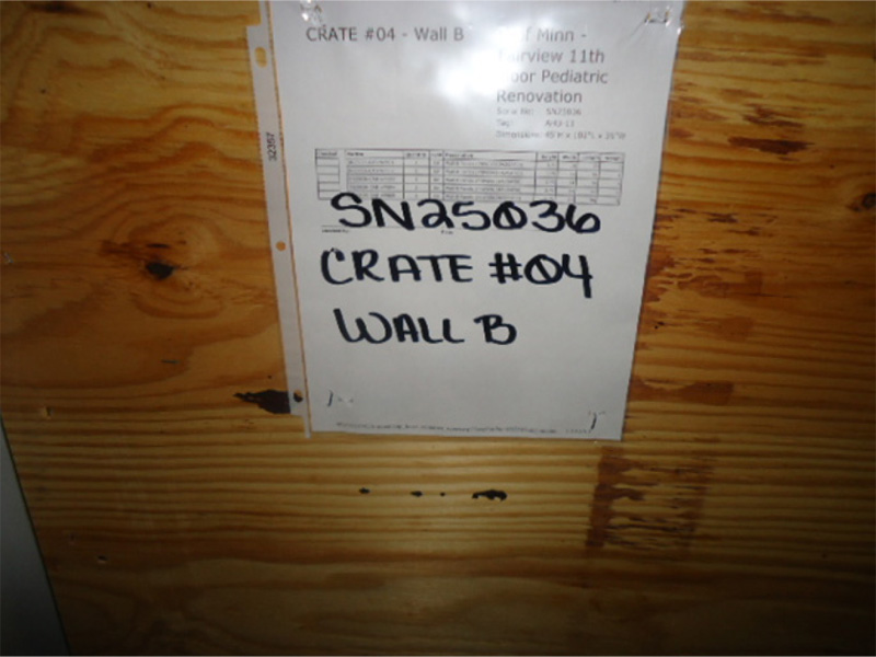 Example of labeled crate